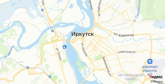 Карта Иркутска с улицами и домами подробная. Показать со спутника номера домов онлайн