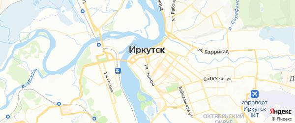 Карта Иркутска с районами, улицами и номерами домов