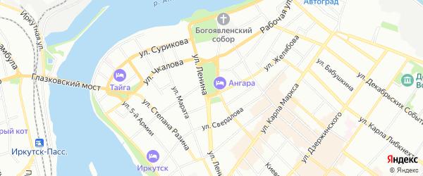 Карта территории Боково города Иркутска в Иркутской области с улицами и номерами домов