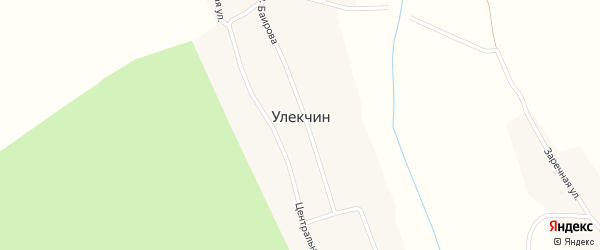 Местность Субарга на карте улуса Улекчин с номерами домов
