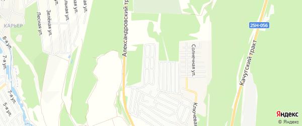 Территория СНТ Пион на карте Иркутского района Иркутской области с номерами домов