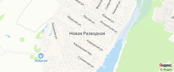 5-й Прибрежный переулок на карте поселка Новой Разводной Иркутской области с номерами домов
