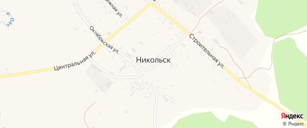 Территория Баканай на карте села Никольска Иркутской области с номерами домов