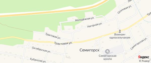 Нагорная улица на карте поселка Семигорска Иркутской области с номерами домов