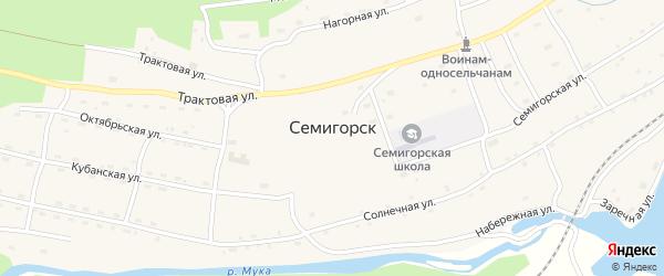 Луговая улица на карте поселка Семигорска Иркутской области с номерами домов