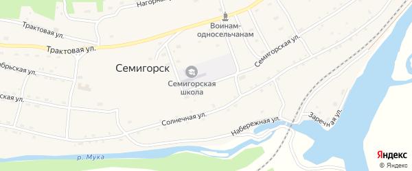 Семигорская улица на карте поселка Семигорска Иркутской области с номерами домов