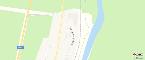 Улица Энергетиков на карте поселка Семигорска Иркутской области с номерами домов