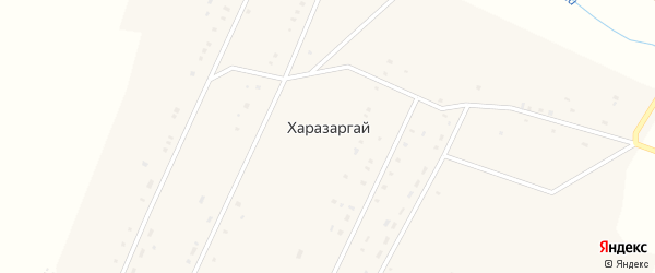 Почтовая улица на карте села Харазаргай Иркутской области с номерами домов