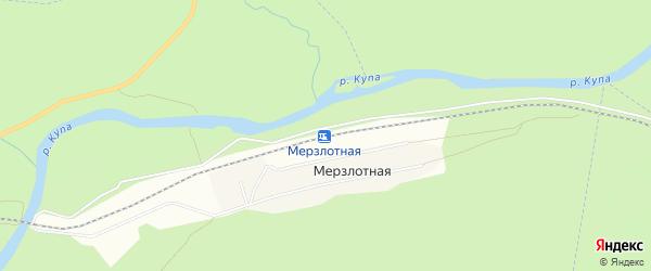 Карта Мерзлотной железнодорожной станции в Иркутской области с улицами и номерами домов