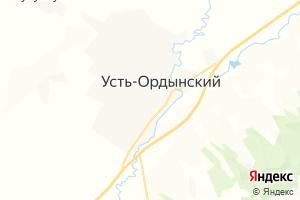 Карта пгт Усть-Ордынский Иркутская область