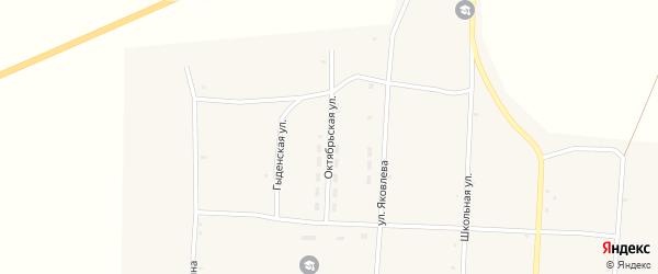 Октябрьская улица на карте улуса Нижнего Бургалтая с номерами домов