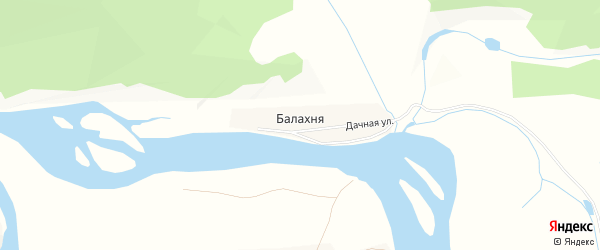 Карта деревни Балахня в Иркутской области с улицами и номерами домов