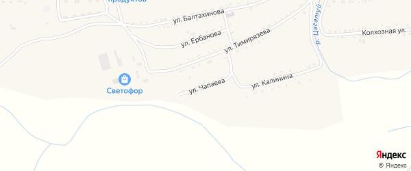 Улица Чапаева на карте села Петропавловки Бурятии с номерами домов
