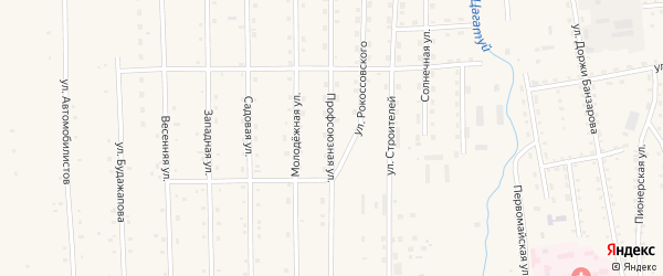 Профсоюзная улица на карте села Петропавловки Бурятии с номерами домов