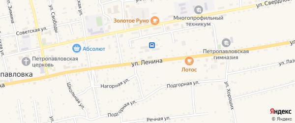 Улица Ленина на карте села Петропавловки Бурятии с номерами домов