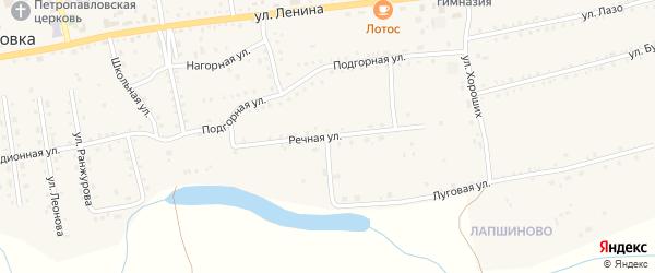 Речная улица на карте села Петропавловки с номерами домов