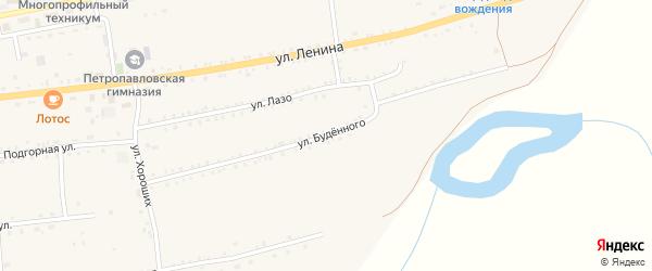 Улица Буденного на карте села Петропавловки Бурятии с номерами домов