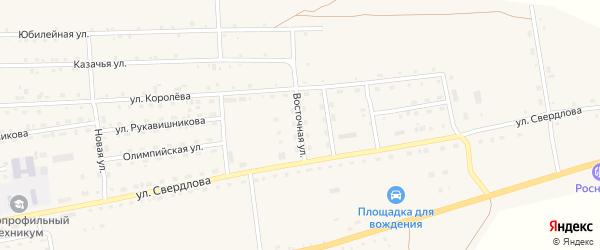 Восточная улица на карте села Петропавловки Бурятии с номерами домов