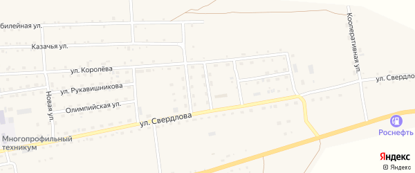 Улица Мелиораторов на карте села Петропавловки Бурятии с номерами домов