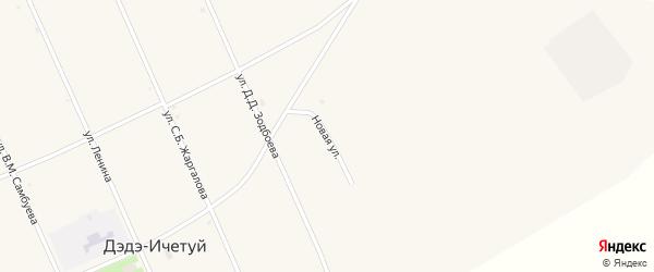 Новая улица на карте улуса Дэдэ-Ичетуй с номерами домов