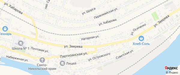 Нагорная улица на карте Усть-Кута с номерами домов