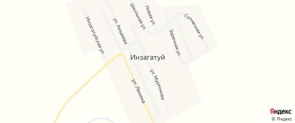 Карта улуса Инзагатуй в Бурятии с улицами и номерами домов