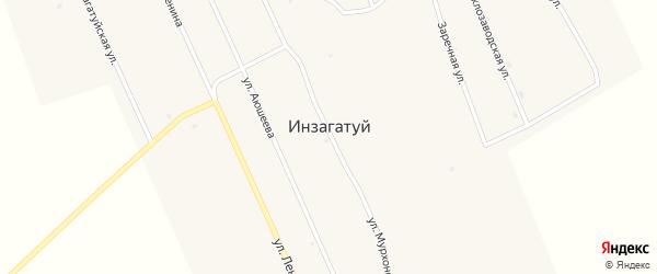 Улица Аюшеева на карте улуса Инзагатуй с номерами домов