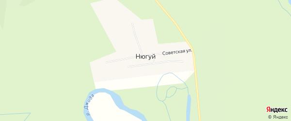Карта улуса Нюгуй в Бурятии с улицами и номерами домов