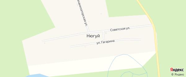 Советская улица на карте улуса Нюгуй с номерами домов