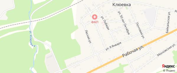 Лесная улица на карте поселка Клюевки с номерами домов