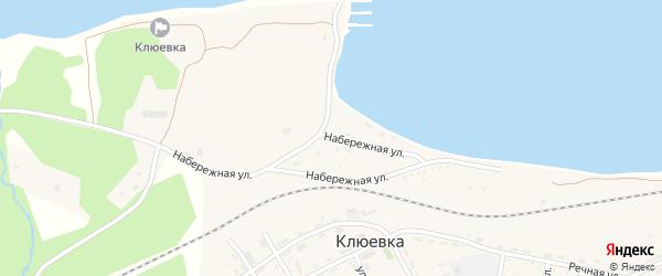 Набережная улица на карте поселка Клюевки с номерами домов