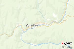 Карта г. Усть-Кут Иркутская область