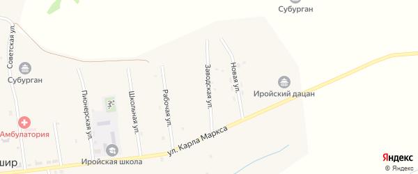 Заводская улица на карте улуса Ташир с номерами домов