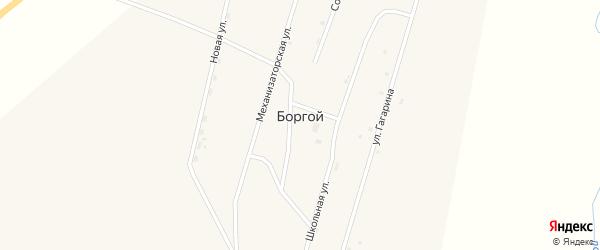 Улица Жигжитова на карте Боргой улуса с номерами домов