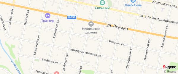 Рабочая улица на карте Бабушкина с номерами домов