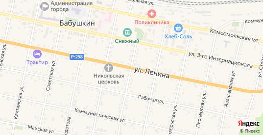 Улица Ленина в Бабушкином с номерами домов на карте. Спутник и схема онлайн