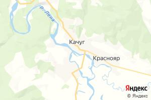 Карта пгт Качуг Иркутская область