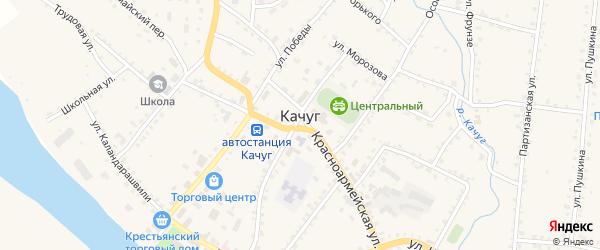 Улица Кирова на карте поселка Качуг Иркутской области с номерами домов
