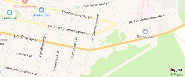 Улица Степана Разина на карте Бабушкина с номерами домов