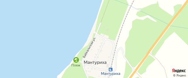 Байкальская улица на карте поселка Мантурихи Бурятии с номерами домов