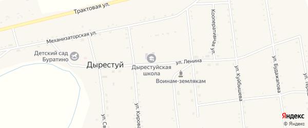 Улица Ленина на карте улуса Дырестуй с номерами домов