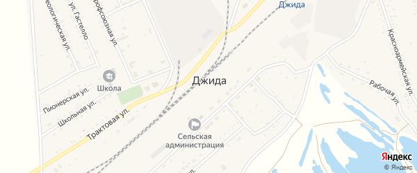 Октябрьская улица на карте поселка Джиды с номерами домов