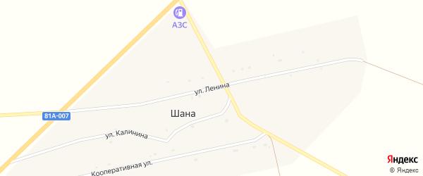 Улица Ленина на карте улуса Шаны с номерами домов