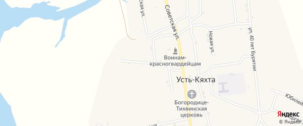 Садовая улица на карте села Усть-Кяхты с номерами домов