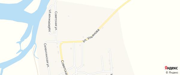 Улица Ульянова на карте села Усть-Кяхты с номерами домов