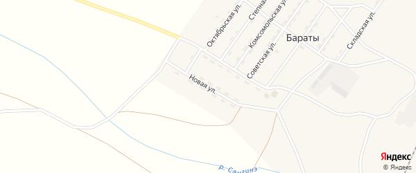 Новая улица на карте поселка Бараты с номерами домов