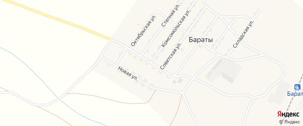 Юбилейная улица на карте поселка Бараты с номерами домов