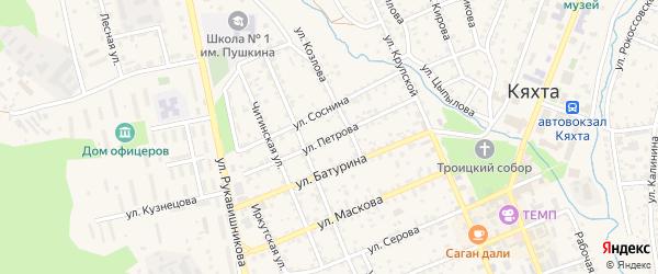Улица Петрова на карте Кяхты с номерами домов