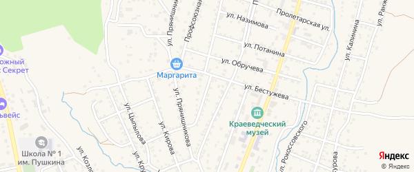 Улица Пржевальского на карте Кяхты с номерами домов