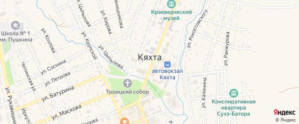 Песчаная улица на карте Кяхты с номерами домов